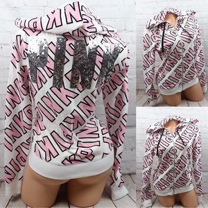 VS PINK Bling Limited Edition Full Zip Hoodie